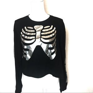 Pink Victoria's Secret Skeleton Black long sleeve